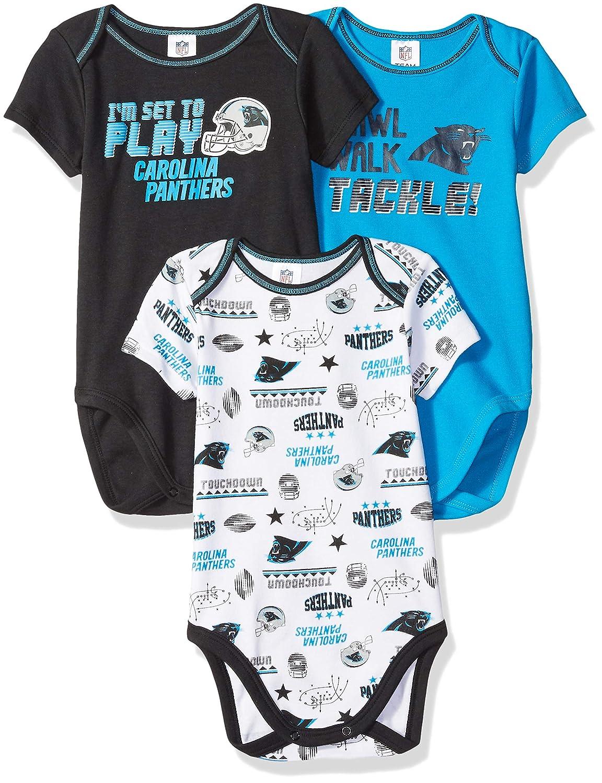 20d9228459 Amazon.com   NFL Carolina Panthers Unisex-Baby 3-Pack Short Sleeve  Bodysuits
