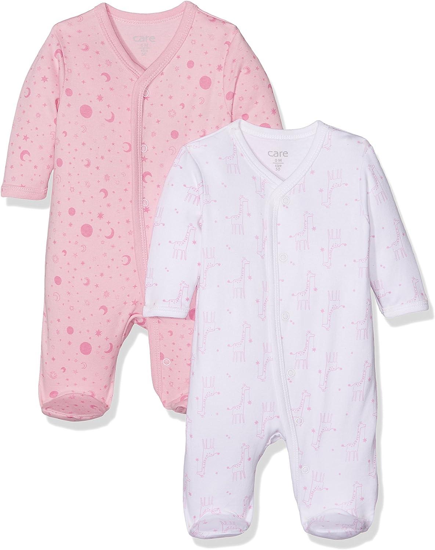 2er Pack Care Baby-M/ädchen Schlafstrampler