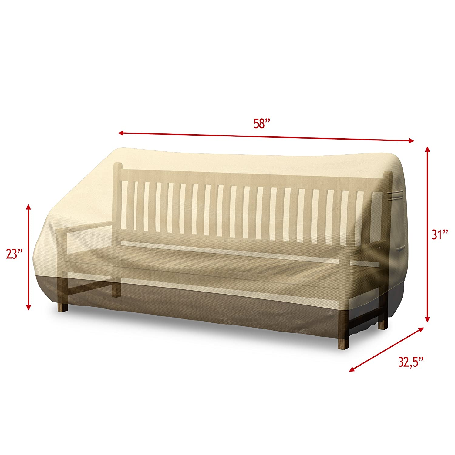 Home Complete Hc 4001 Outdoor Cover For Loveseat Sofa Bench 58