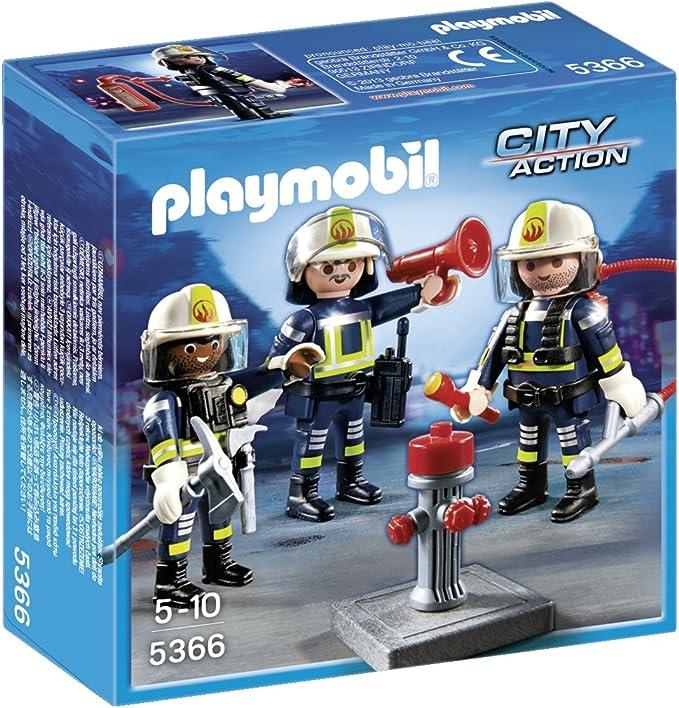 PLAYMOBIL Bomberos - Equipo de Figuras (5366): Playmobil: Amazon ...