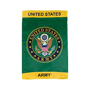 In the Breeze U.S. Army Symbol Lustre Garden Flag - Double Sided Military Service Flag