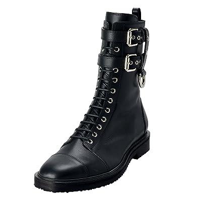 826b81b273dc4 Amazon.com | Giuseppe Zanotti Homme Men's Black Leather Motorcycle Boots  Shoes US 9 IT 42 | Motorcycle & Combat