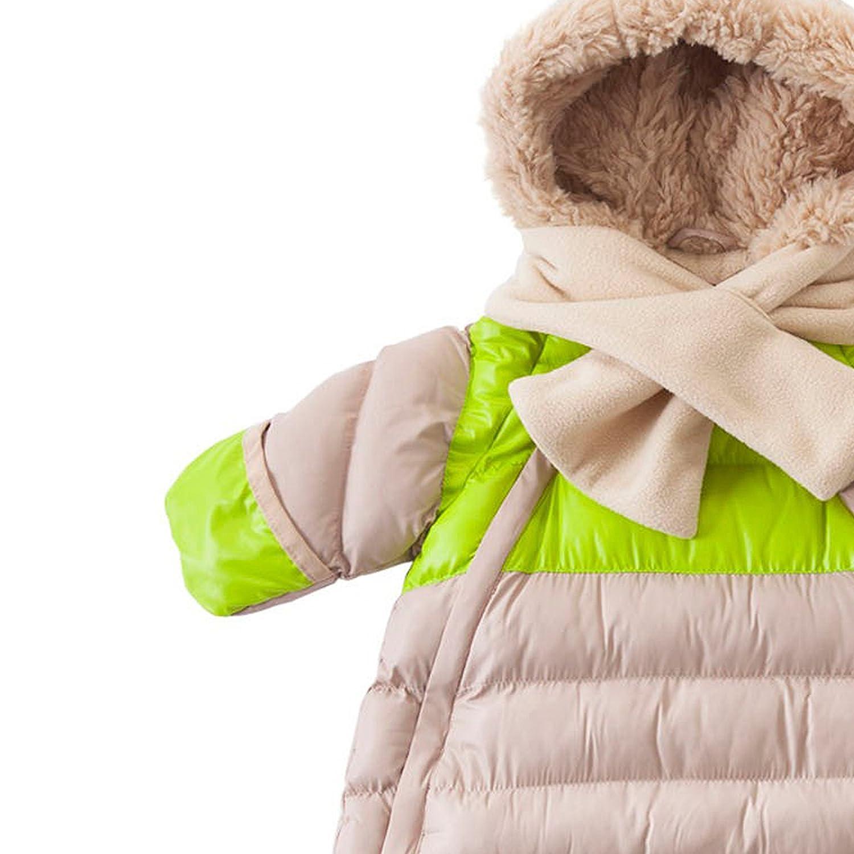 WANGZAI Doudoune /À Capuche pour Enfants,Garder Au Chaud Hiver Mi-Longueur /Épaissir Fermeture /Éclair Multicolore Mode Coupe-Vent Confortable Convient Aux Enfants Sortant,Marron,90