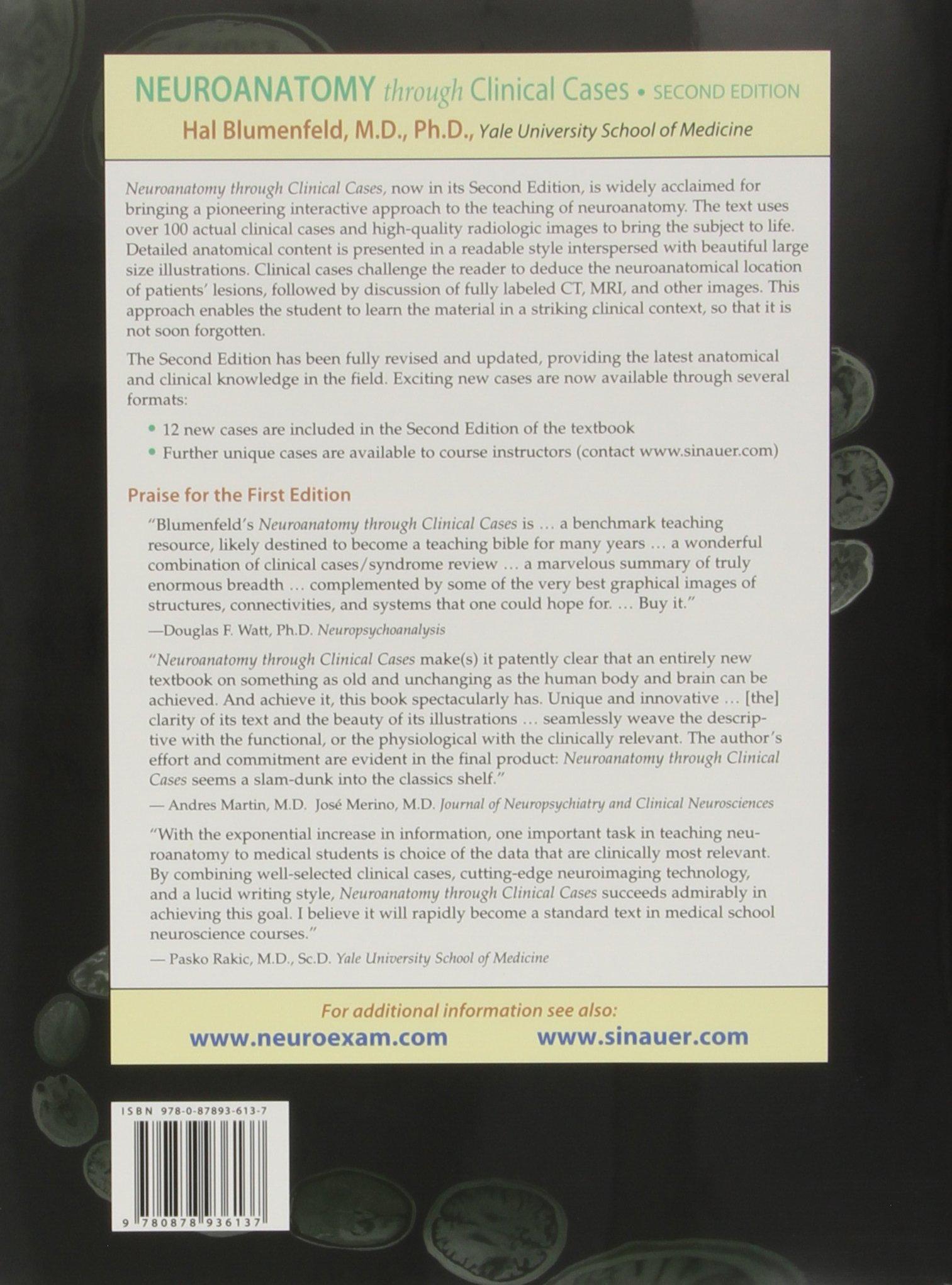 Neuroanatomy Through Clinical Cases Hal Blumenfeld 9780878936137