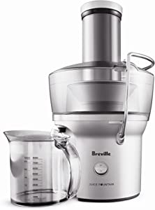 Breville BJE200XL Juice Fountain Compact Centrifugal Juicer, Silver