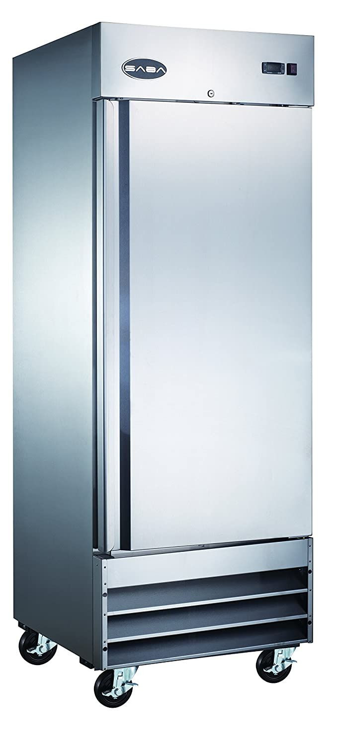 "Heavy Duty Commercial Stainless Steel Reach-In Refrigerator (23"" One Solid Door)"
