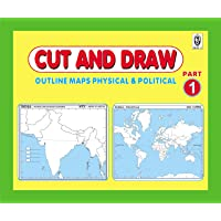 CUT AND DRAW SMALL BOOK OF OUTLINE PRACTICE MAPS (100 ASSORTED MAPS) CONTAINS INDIA, WORLD AND CONTINENTS