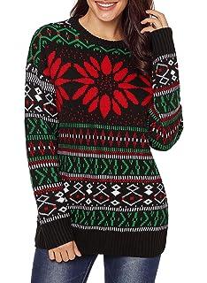 7a22c425368e Viottiset Women s Animal Pattern Christmas X-Mas Pullover Knitted ...