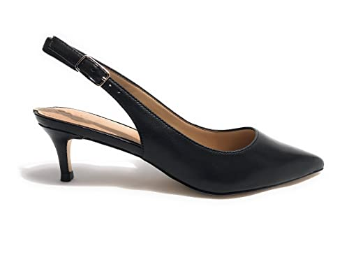 SCARPE DONNA DECOLLETE GUESS MOD. DEBBY TC 50 PELLE NERO DS18GU62