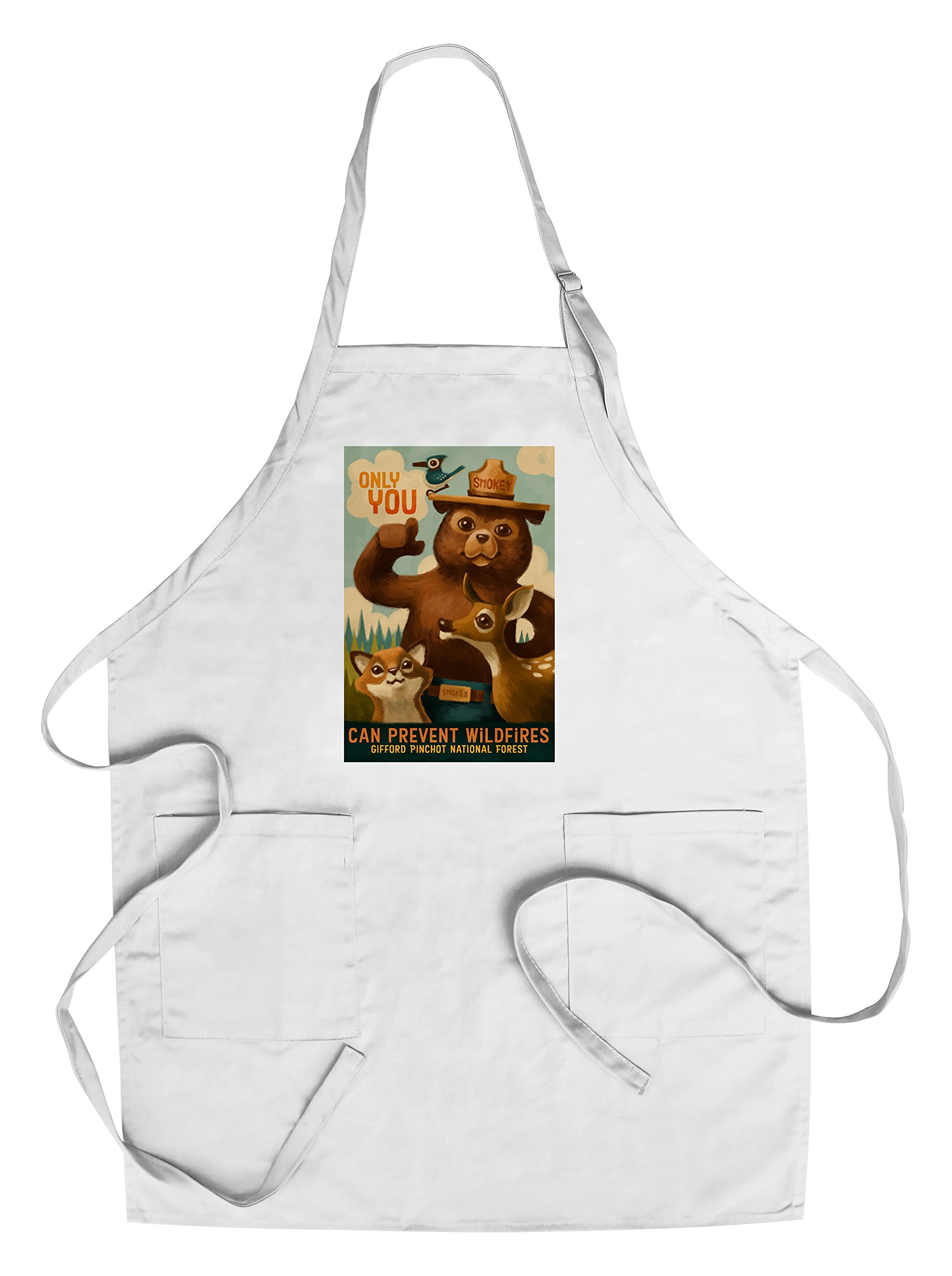 Gifford Pinchot National Forest - Smokey Bear - Only You - Oil Painting (Cotton/Polyester Chef's Apron)