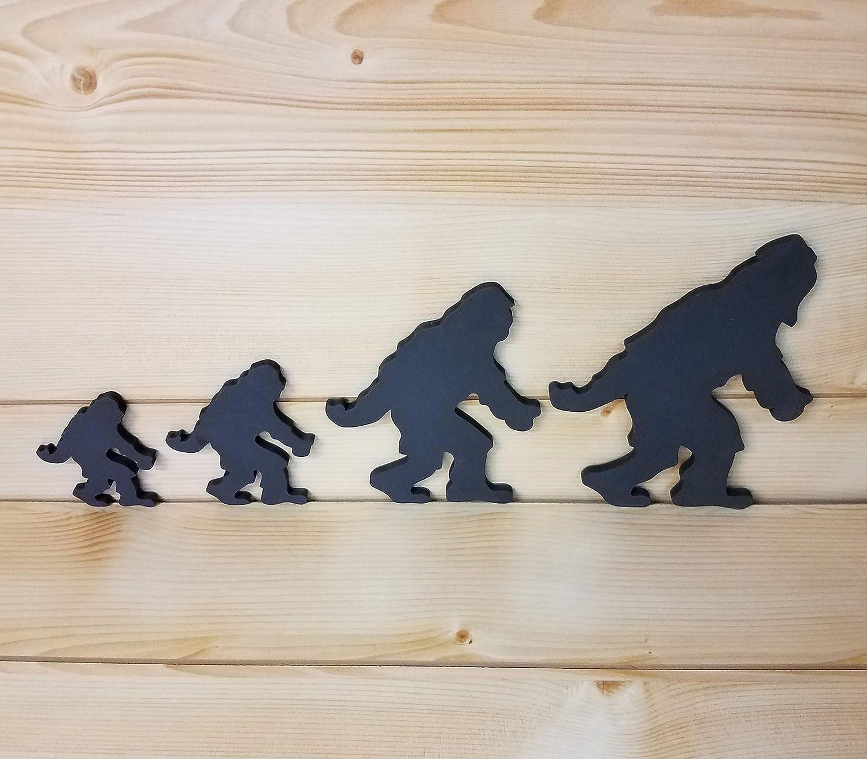 Sasquatch Wall Art Bigfoot Family Art Sasquatch Family of 4 Bigfoot Family of 4 Sasquatch Art Bigfoot Woodwork Bigfoot Wall Art