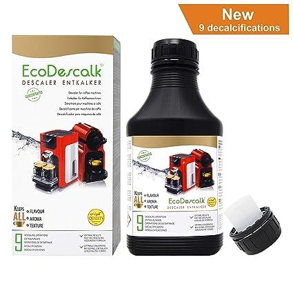 EcoDescalk Concentrado 9 descalcificaciones. Descalcificador para Todo Tipo de Cafeteras. Todas Las Marcas,
