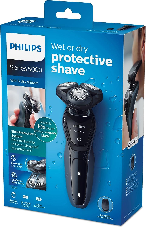Philips Series 5000 S5270/06 - Maquinilla de afeitar eléctrica en seco y húmedo con cuchillas de precisión Comfort Cut: Amazon.es: Salud y cuidado personal