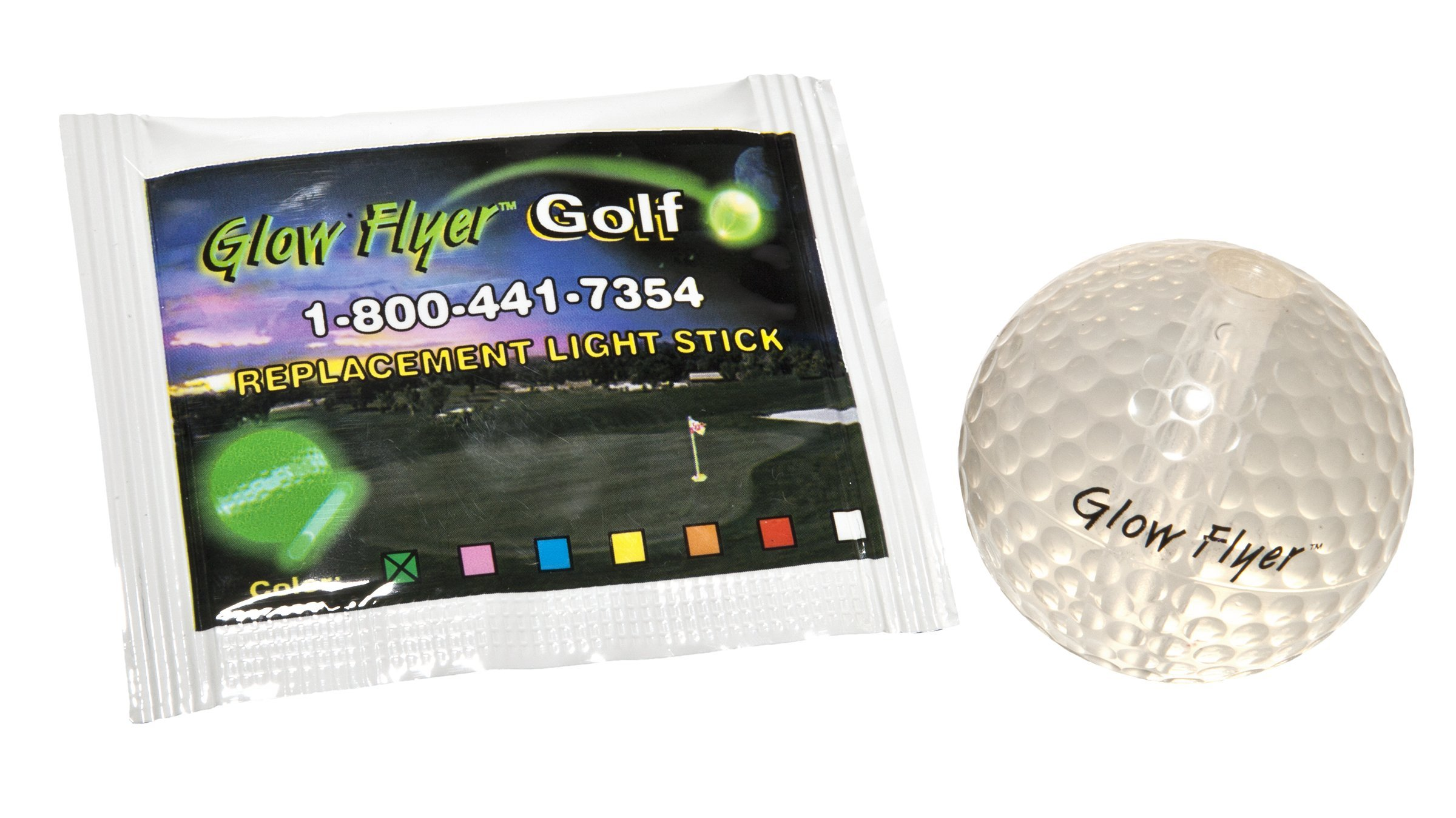 Windy City Novelties Glow in The Dark Golf Ball with Replaceable Glow Stick