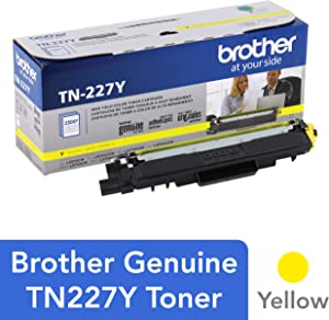 Brother Genuine TN227Y, High Yield Toner Cartridge, Replacement Yellow Toner, Page Yield Up to 2,300 Pages, TN227, Amazon Dash Replenishment Cartridge, 15.3 x 4.1 x 6.1 inches