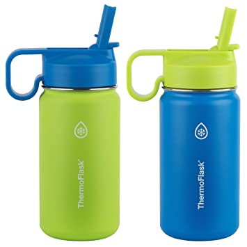 Amazon.com: ThermoFlask Kids - Termo de pared doble (acero ...