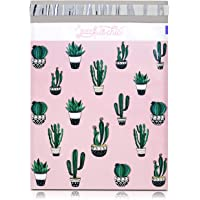 """Pack It Chic - 10"""" X 13"""" (100 Pack) Cactus & Succulents Poly Mailer Envelope Plastic Custom Mailing & Shipping Bags…"""