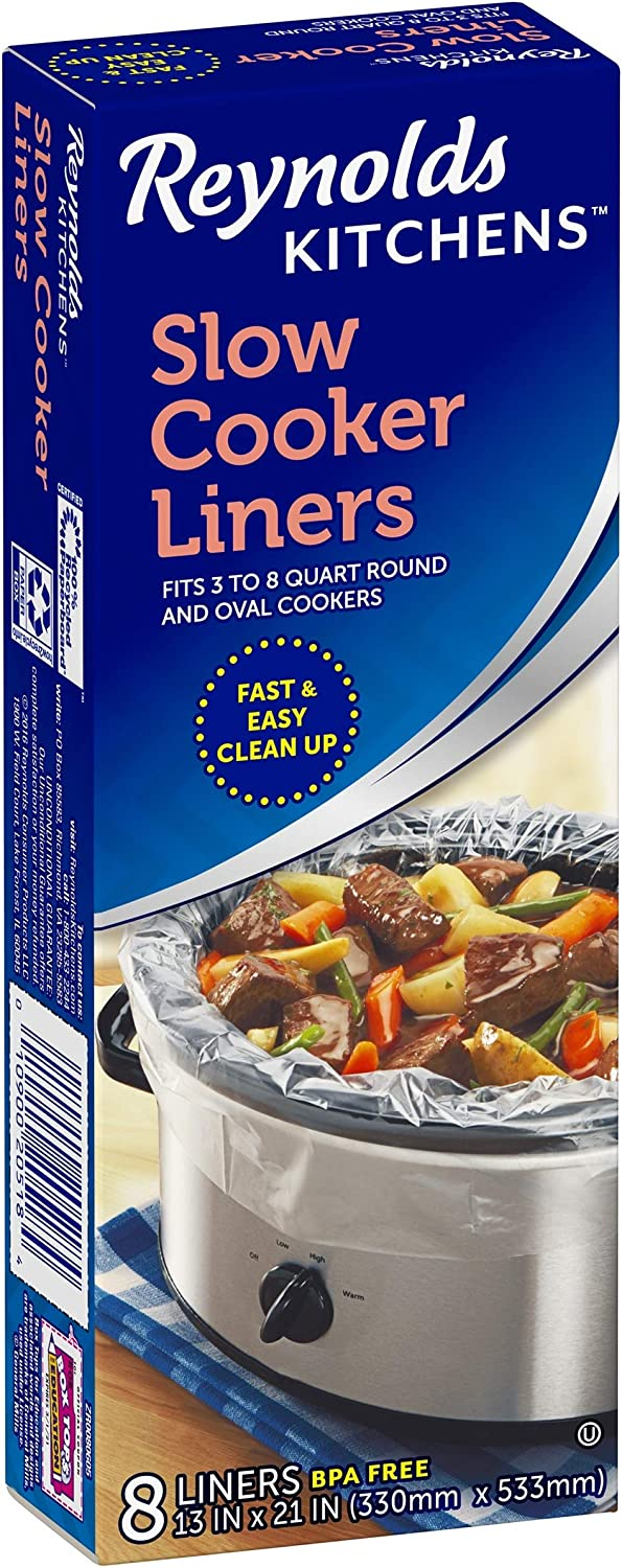 "Reynolds Wrap Slow Cooker Liners 13"" X 21"" Round and Oval Boxed (Pack of 5)"