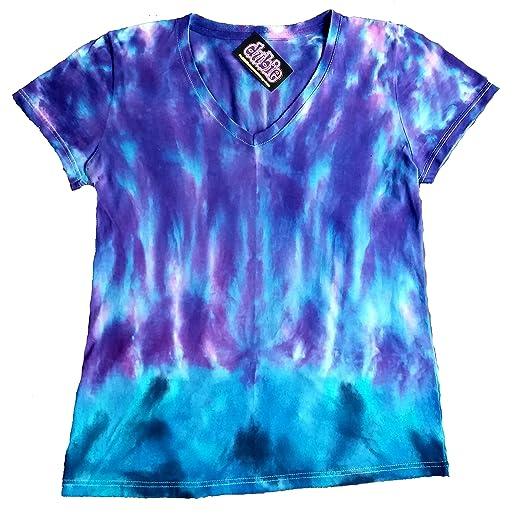 7213389c72f79 Purple Haze Lady's V Neck Tie Dye Shirt at Amazon Women's Clothing store