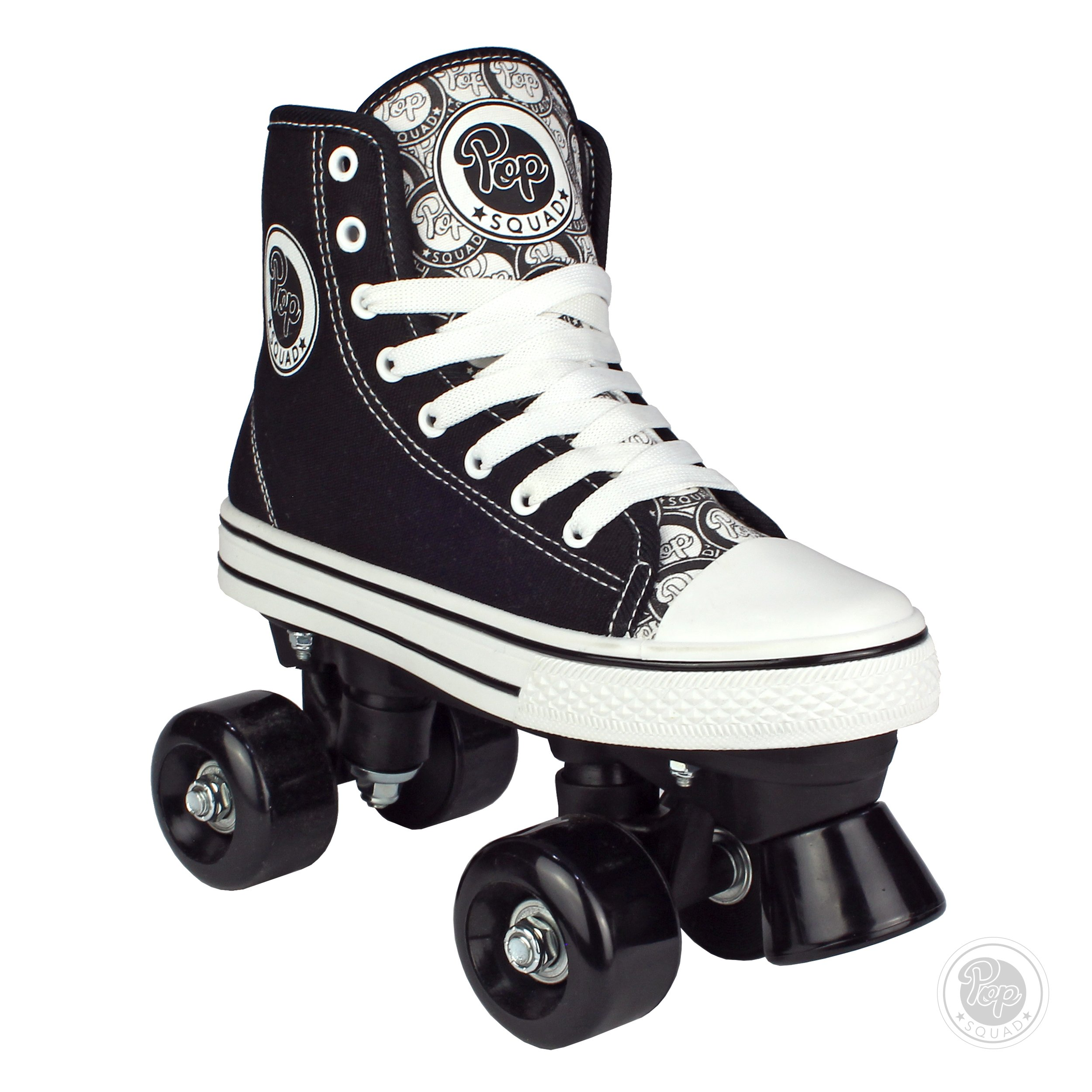 Pop Squad Midtown Girl's and Boy's Roller Skates - Black (5)