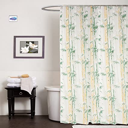 Clasiko PVC Plastic 4.5x7-Inches Bath Shower Bathroom Curtain with 8 Hooks