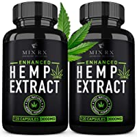 (2 Pack | 240 Pills) Hemp Oil Capsules 3000MG for Pain Relief Anxiety Sleep Mood Immune - Best Natural Organic Hemp Seed Oil Powder Extract, Omega 3 6 9