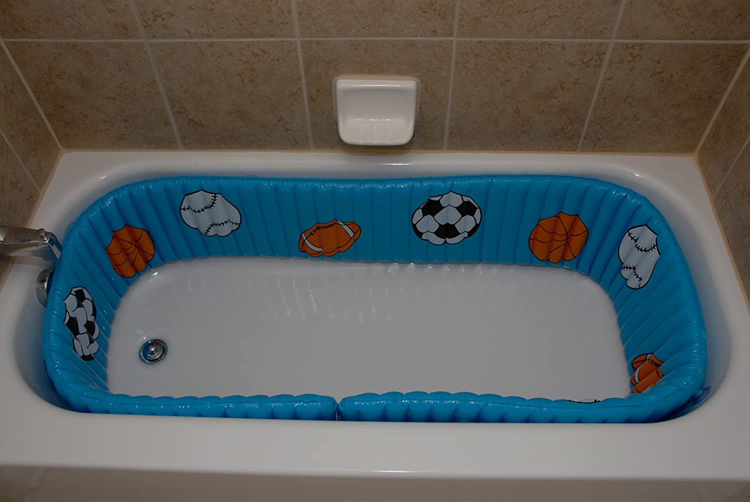 Amazon.com : Tub-Time Bumpers Sport Inflatable Bathtub Liner ...