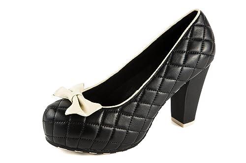 1736d113093 Lola Ramona Zapatos de Vestir de Piel Lisa Para Mujer Negro Negro 40 ...