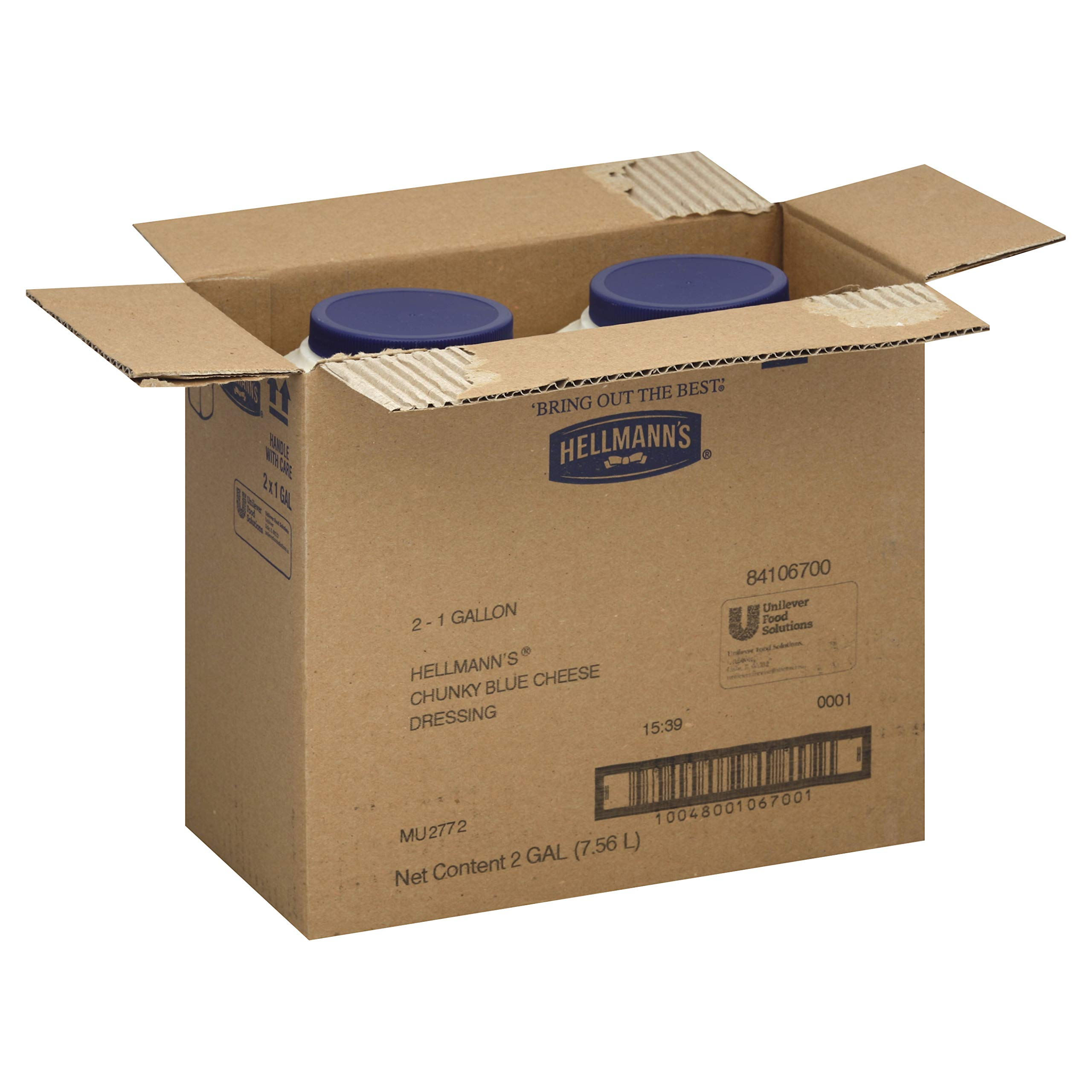 Hellmanns Blue Ribbon Collection Chunky Blue Cheese Dressing, 1 Gallon - 2 per case.