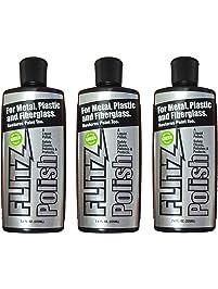 Flitz LQ 04587-3A-3PK Metal, Plastic and Fiberglass Liquid Polish, 7.6-Ounce Bottle, 3-Pack