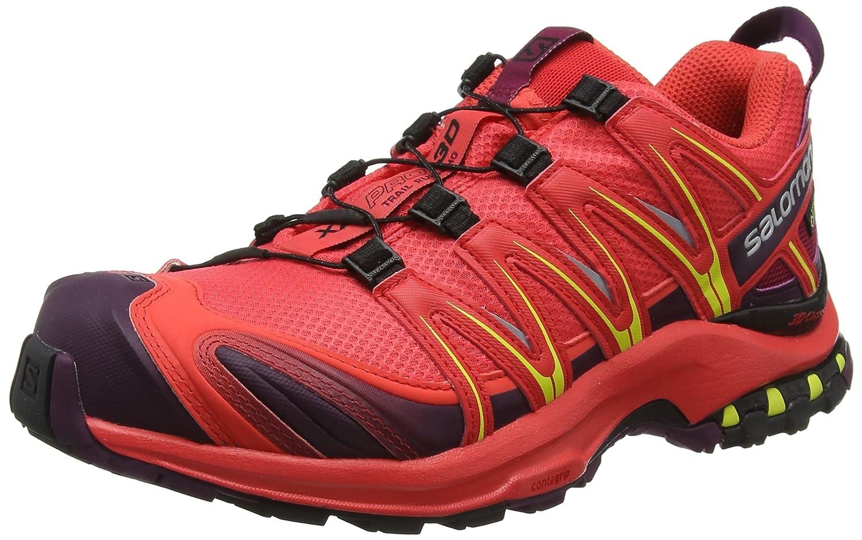 Salomon XA Pro 3D GTX, Calzado de Trail Running para Mujer 41 1/3 EU|Naranja (Hibiscus/Potent Purple/Sulphur Spring)