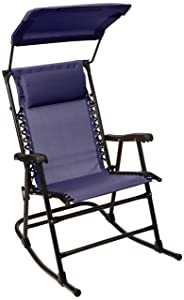 AmazonBasics Foldable Rocking Chair with Canopy - Blue