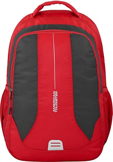 fa92531dc9 American Tourister Canvas Tourister Link Plus 01 Backpack(Red and Black)   Amazon.in  Bags