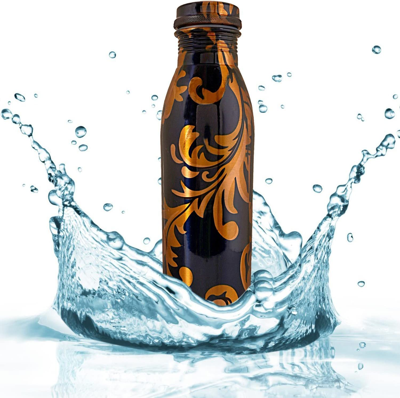Craft Trade Copper Water Bottle 1 LTR Seamless Leak Proof Joint Free Handmade Vessel//Utensil