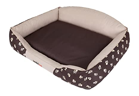 Hobbydog Royal Series Cama para Perro, Grande, Corona Beige