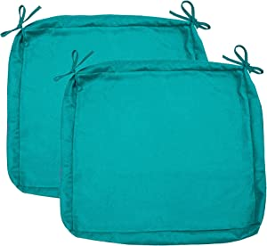 "Sigmat Outdoor Seat Cushion Cover Water Repellent Patio Deep Seat Chair Cushion Cover-Only Cover Teal 25""x25""x5""(2 Covers)"