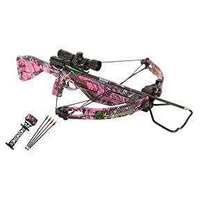 Parker Bows Challenger Ladies Crossbow Package with 4X Multi-reticle Scope