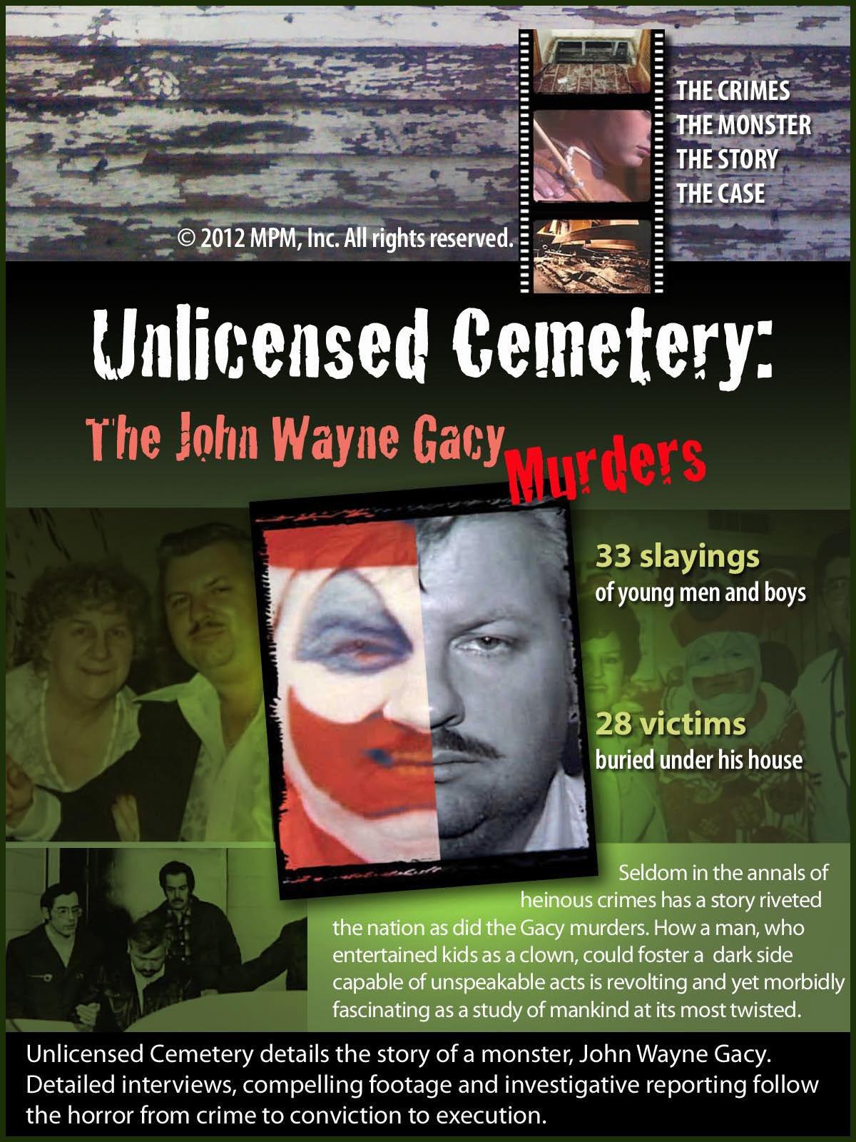 Amazon com: Unlicensed Cemetery: The John Wayne Gacy Murders