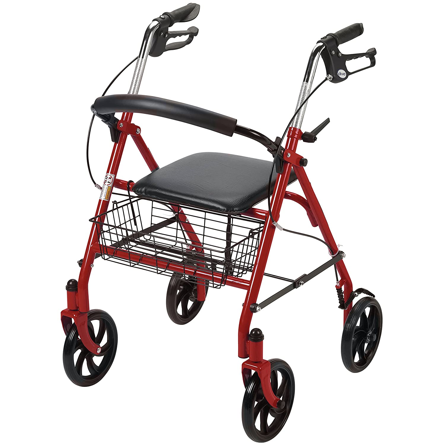 Amazoncom Drive Medical Four Wheel Rollator With Fold Up Removable