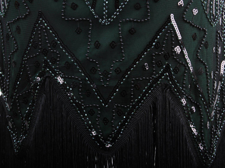 a40f3eb56a5c Dresses Vijiv Women 1920s Gastby Sequin Art Nouveau Embellished Fringed  Flapper Dress JXJ-FN1967