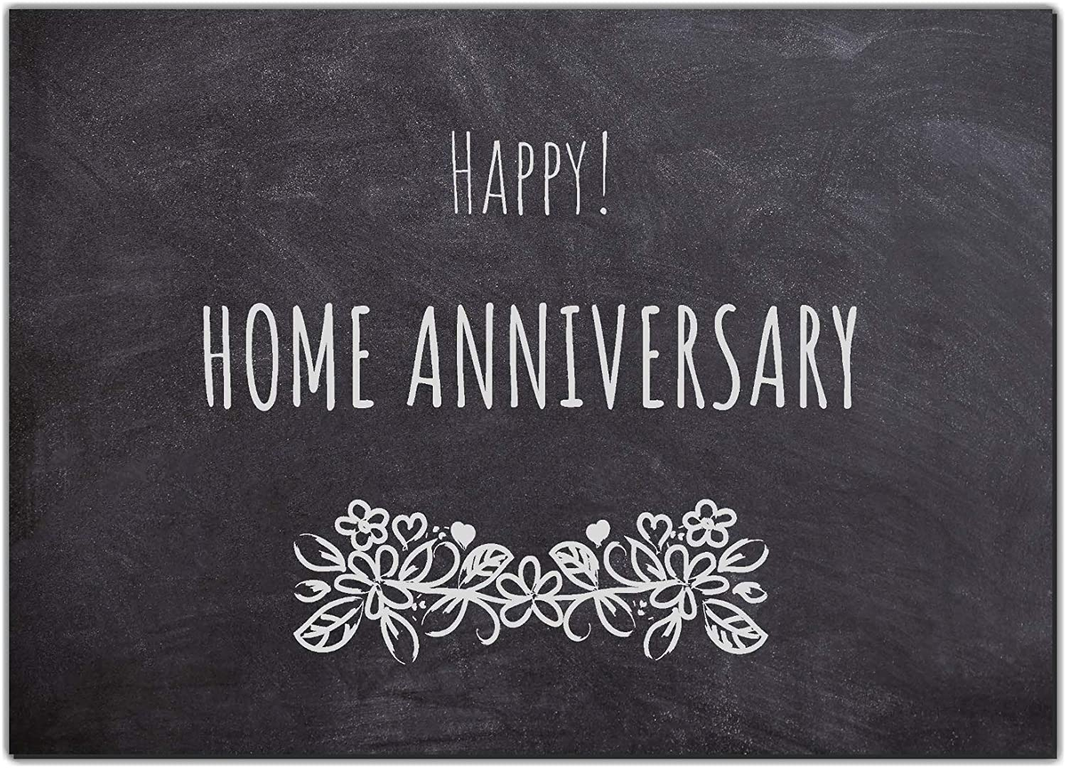 25 Happy Home Anniversary Realtor Chalk Cards, Bulk Real State Thank You Notes, Blank Greeting Home Postcards,Realtor Gifts Welcome Home Cards