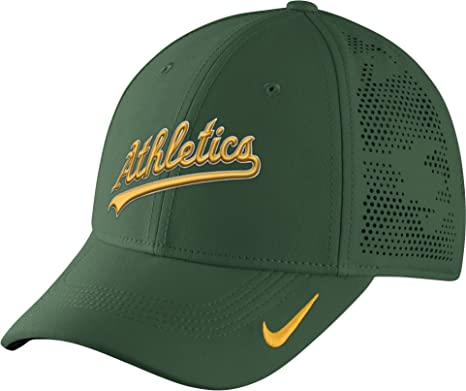 Amazon.com  Nike Men s Oakland A s Vapor Performance Flex Cap One Size  Green Yellow  Sports   Outdoors a3a65aa543dc