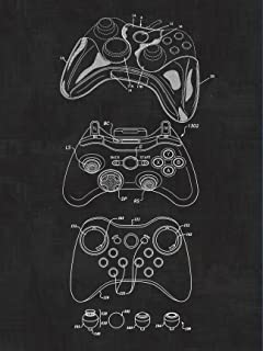 Amazon gameboy video game system patent print art poster xbox controller video games blueprint patent patent poster safety blueprint poster malvernweather Image collections