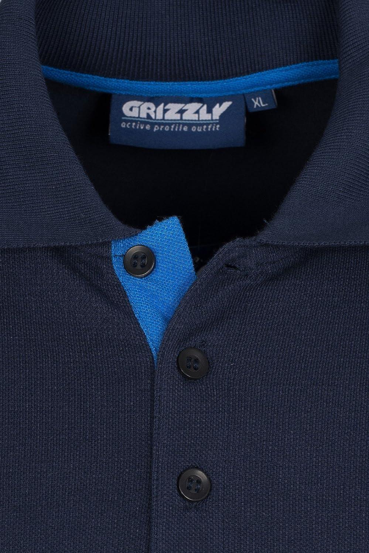 Grizzly Tucson Polo de los Hombres Azules de 150358 850 ...