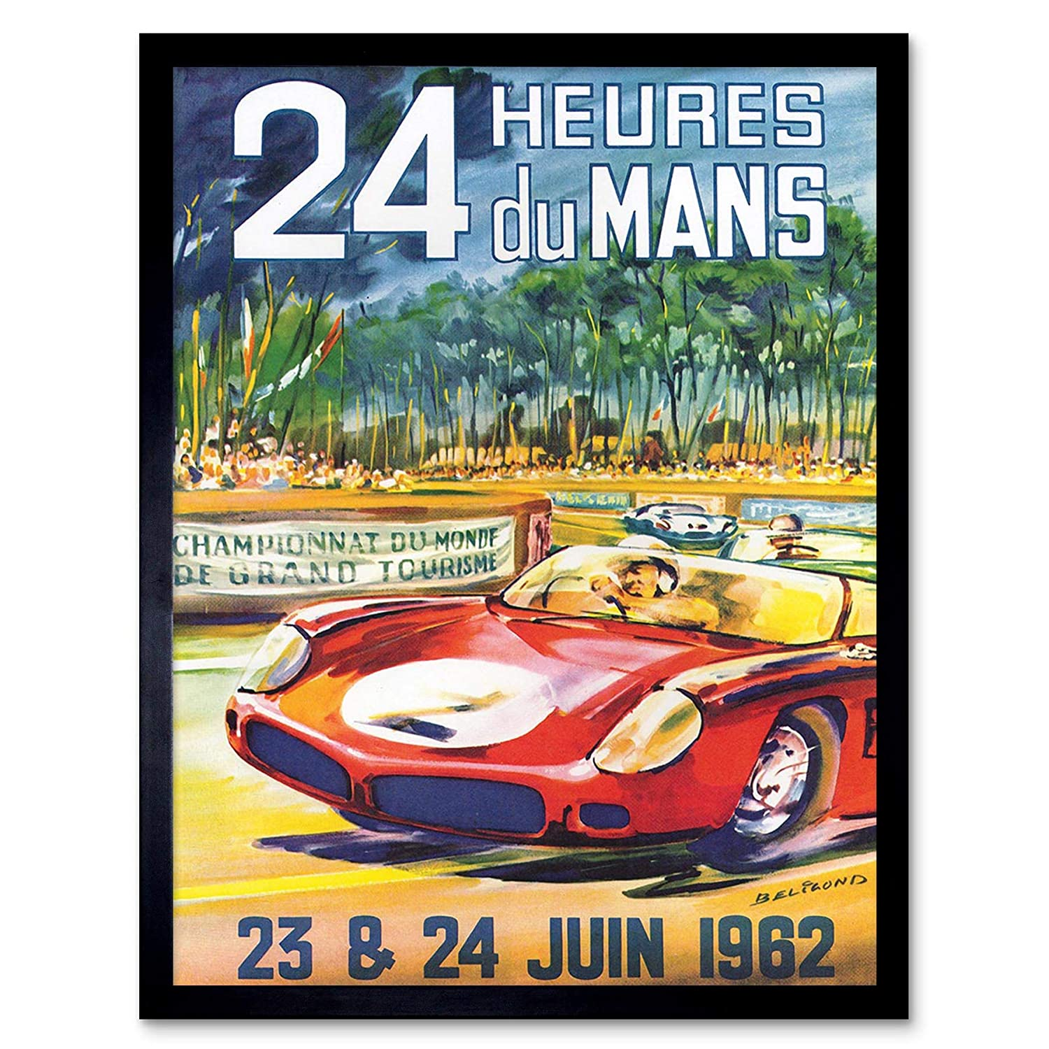 Wee Blue Coo Advert Race Car Racing Automobile Classic 24 Heures Du Mans Unframed Wall Art Print Poster Home Decor Premium