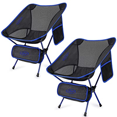 Upgraded 2 Pack Lightweight Folding Chair Outdoor Camping Chairs for Hiking Backpacking : Sports & Outdoors