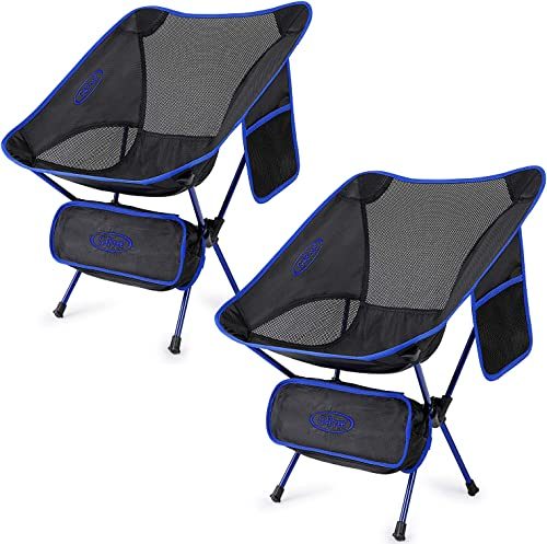 G4Free Upgraded 2 Pack Ultralight Folding Camping Chair, Portable Compact Heavy Duty for Outdoor, Camp, Travel, Beach, Picnic, Festival, Hiking, Backpacking