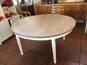 Legno Naturale Sbiancato : Tavolo ovale allungabile in legno massello di teak