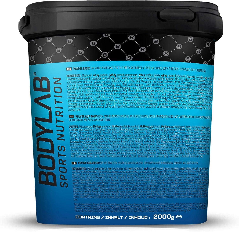 Bodylab24 Proteína Whey 2kg | Proteína de suero en polvo para antes y después del entrenamiento | Para batido de proteínas para masa muscular | 80% ...