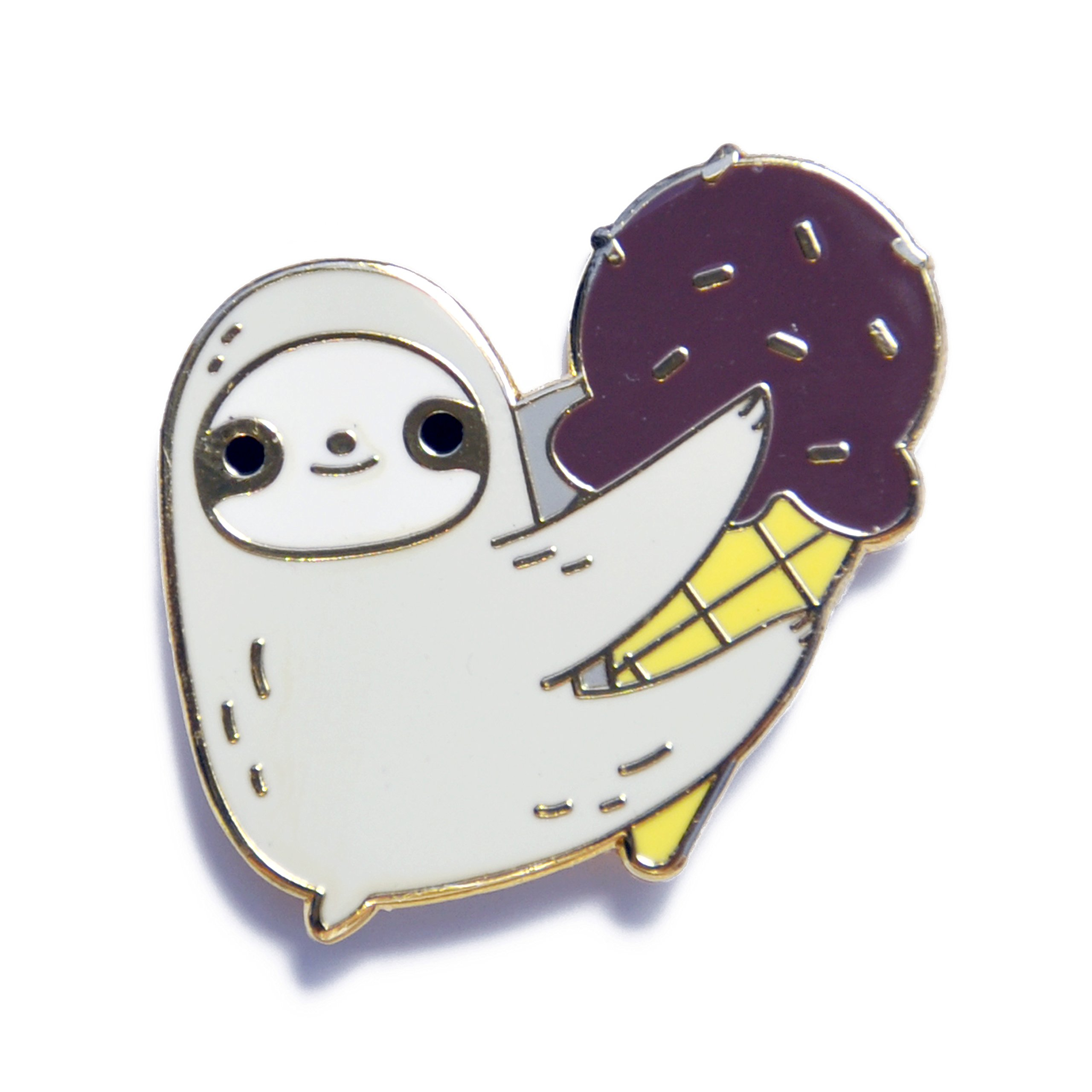Noristudio Ice-cream sloth enamel pin